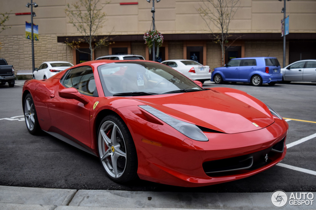 ferrari 458 spider 10 january 2015 autogespot. Black Bedroom Furniture Sets. Home Design Ideas