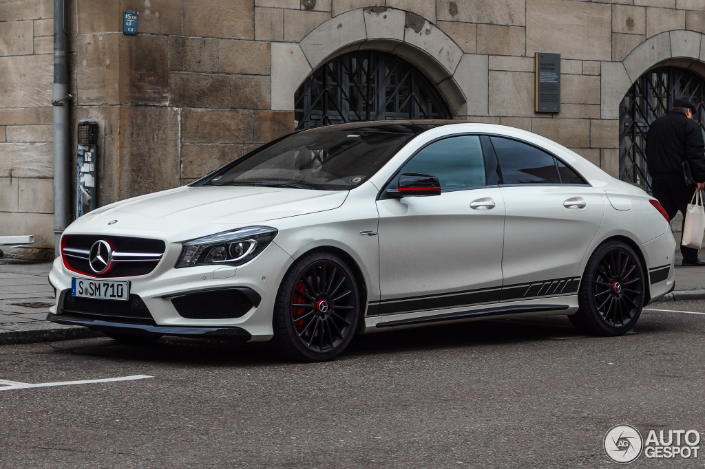 mercedes benz cla 45 amg edition 1 c117 12 janvier 2015 autogespot. Black Bedroom Furniture Sets. Home Design Ideas