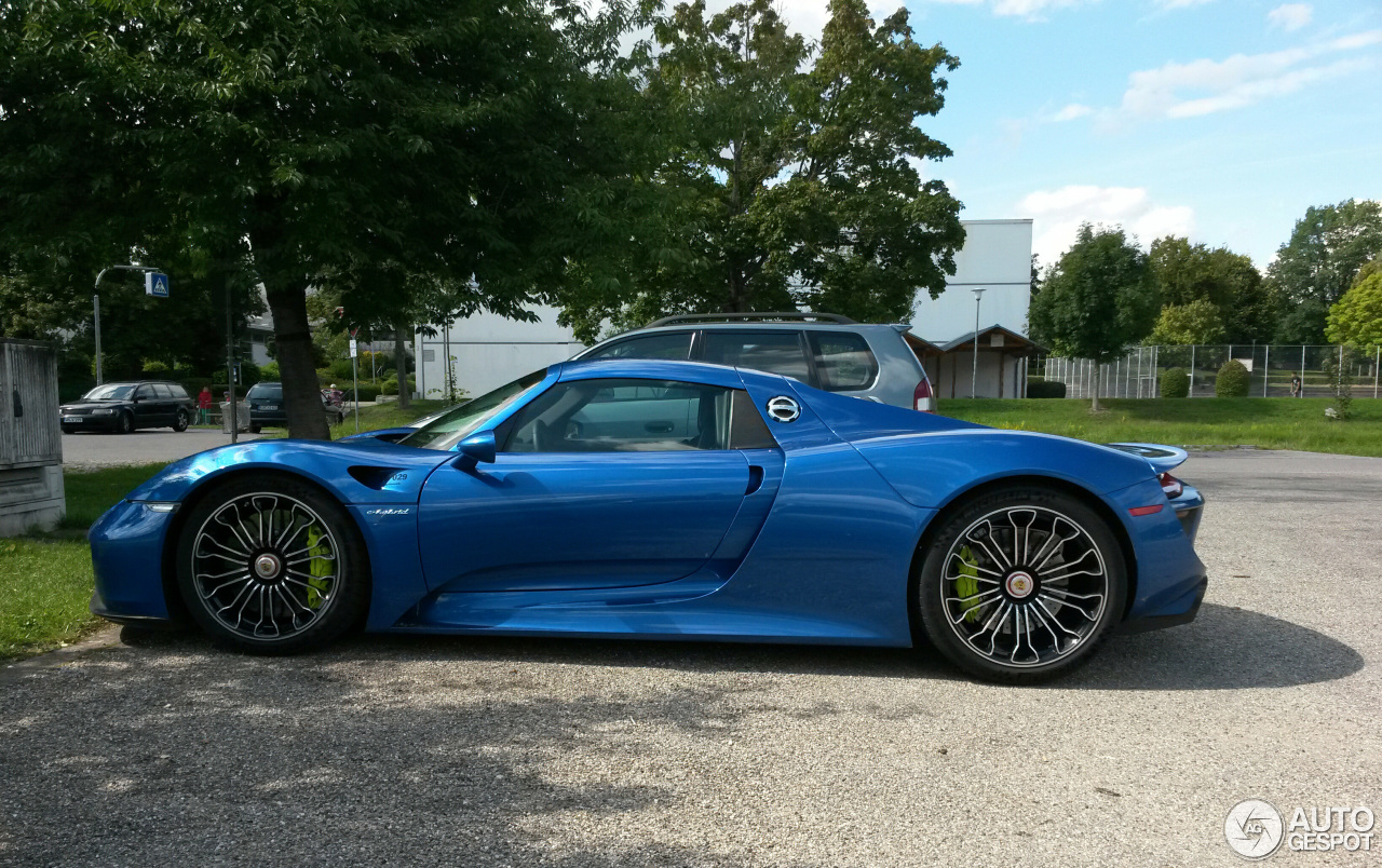 porsche 918 spyder 15 february 2015 autogespot. Black Bedroom Furniture Sets. Home Design Ideas