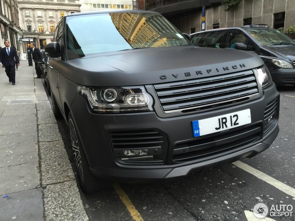Matte Black Range Rover Sport 2015