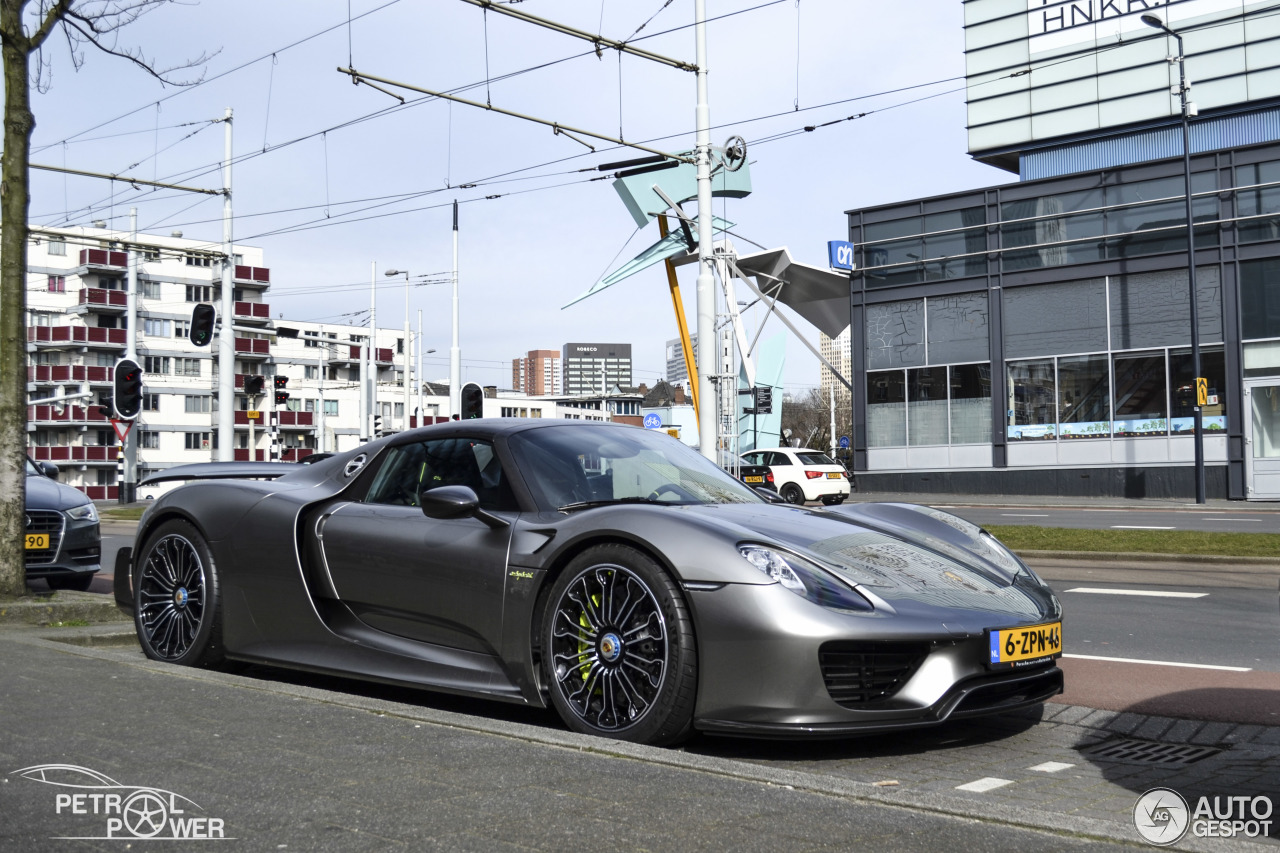 porsche 918 spyder weissach package 7 maart 2015 autogespot. Black Bedroom Furniture Sets. Home Design Ideas