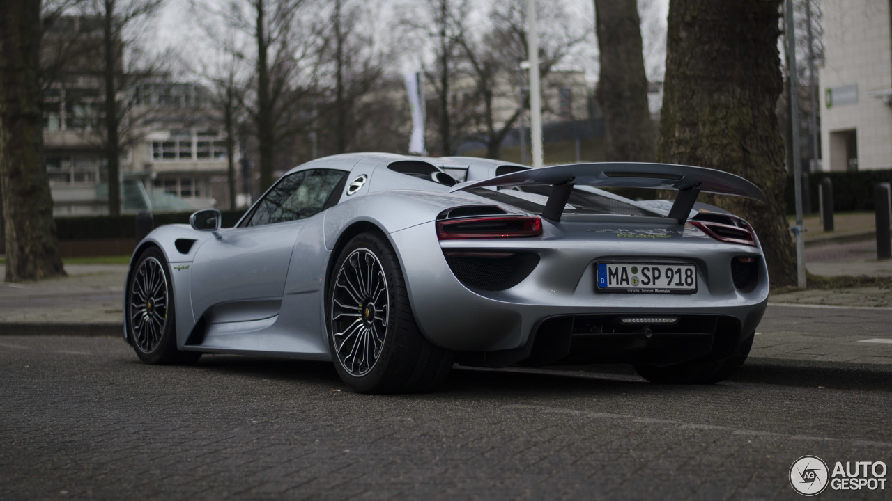 porsche 918 spyder 14 mrz 2015 autogespot. Black Bedroom Furniture Sets. Home Design Ideas