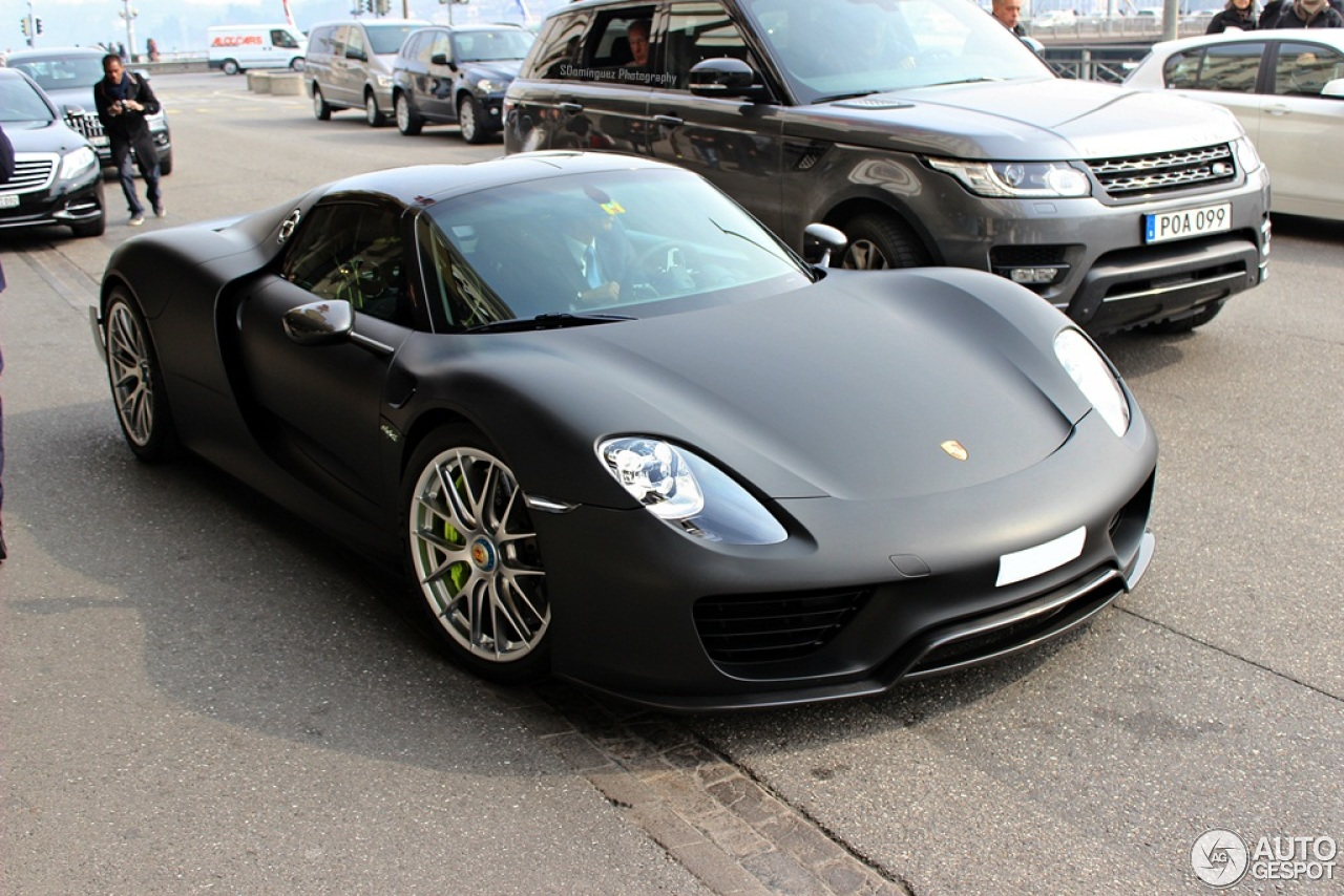 porsche 918 spyder weissach package 15 mrz 2015 autogespot. Black Bedroom Furniture Sets. Home Design Ideas