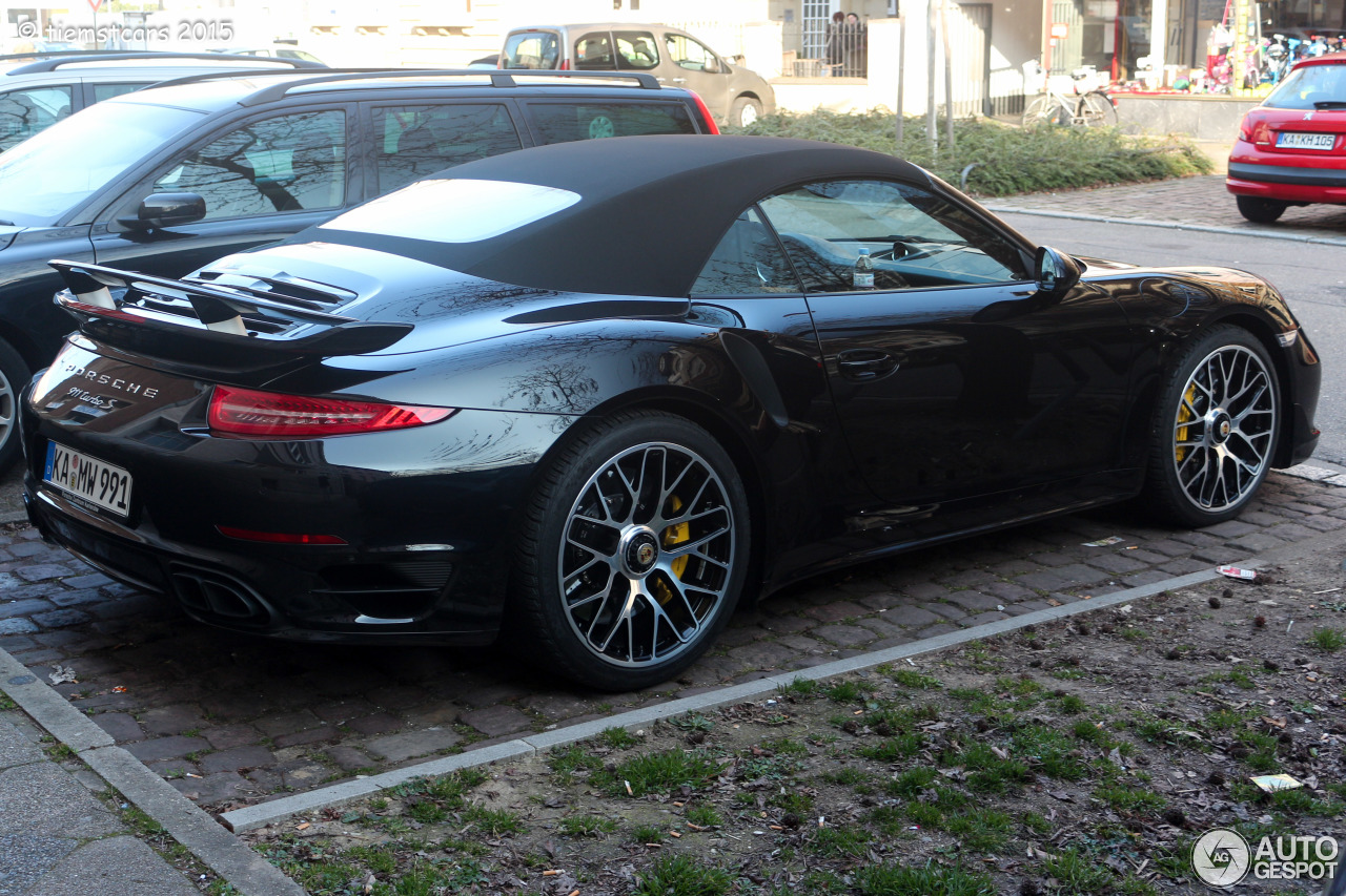 porsche 991 turbo s cabriolet 16 mrz 2015 autogespot. Black Bedroom Furniture Sets. Home Design Ideas