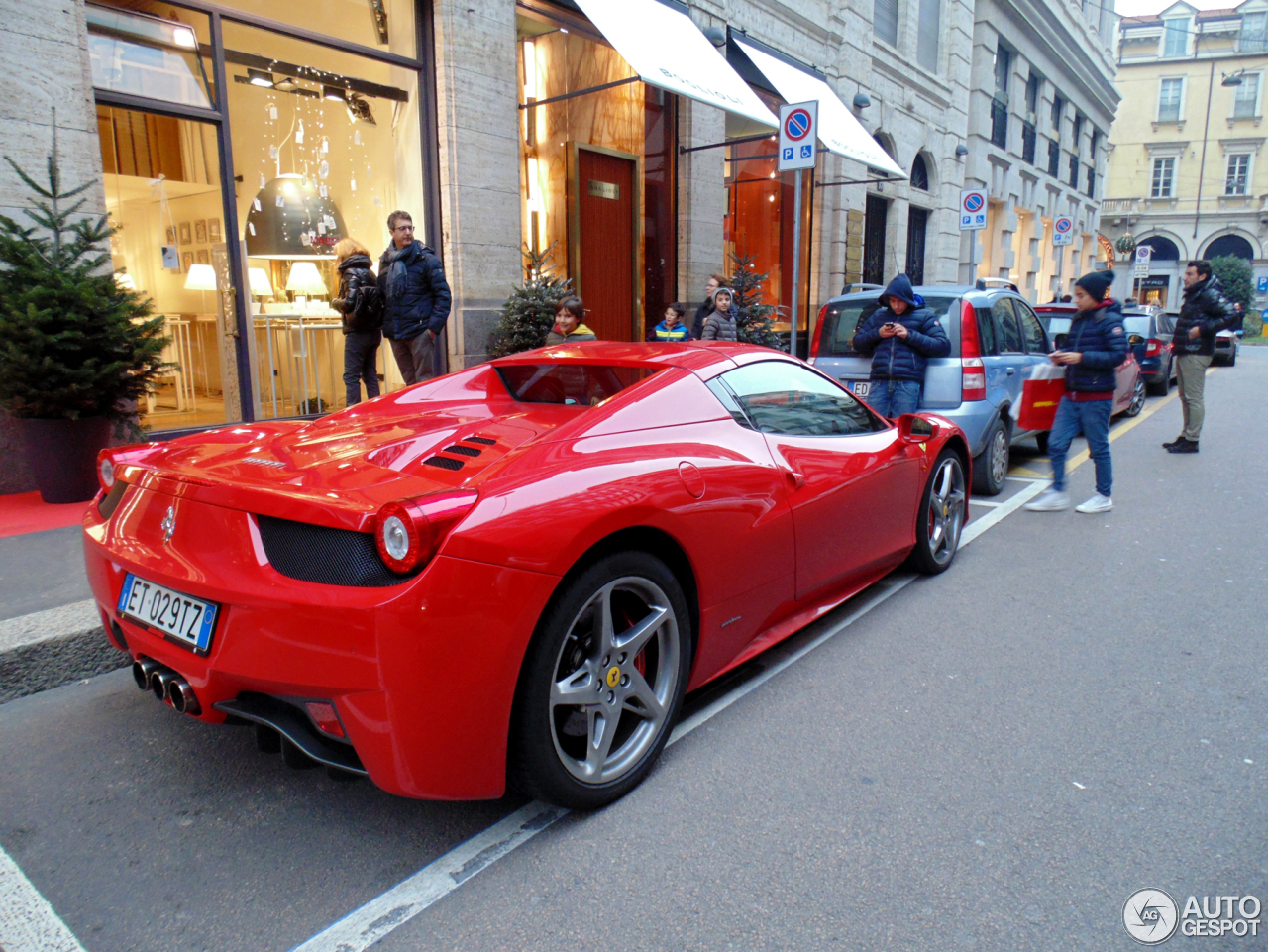 ferrari 458 spider 19 march 2015 autogespot. Black Bedroom Furniture Sets. Home Design Ideas