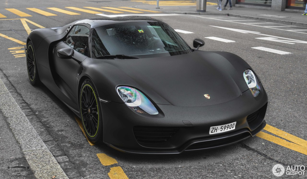 porsche 918 spyder weissach package 21 marzo 2015 autogespot. Black Bedroom Furniture Sets. Home Design Ideas
