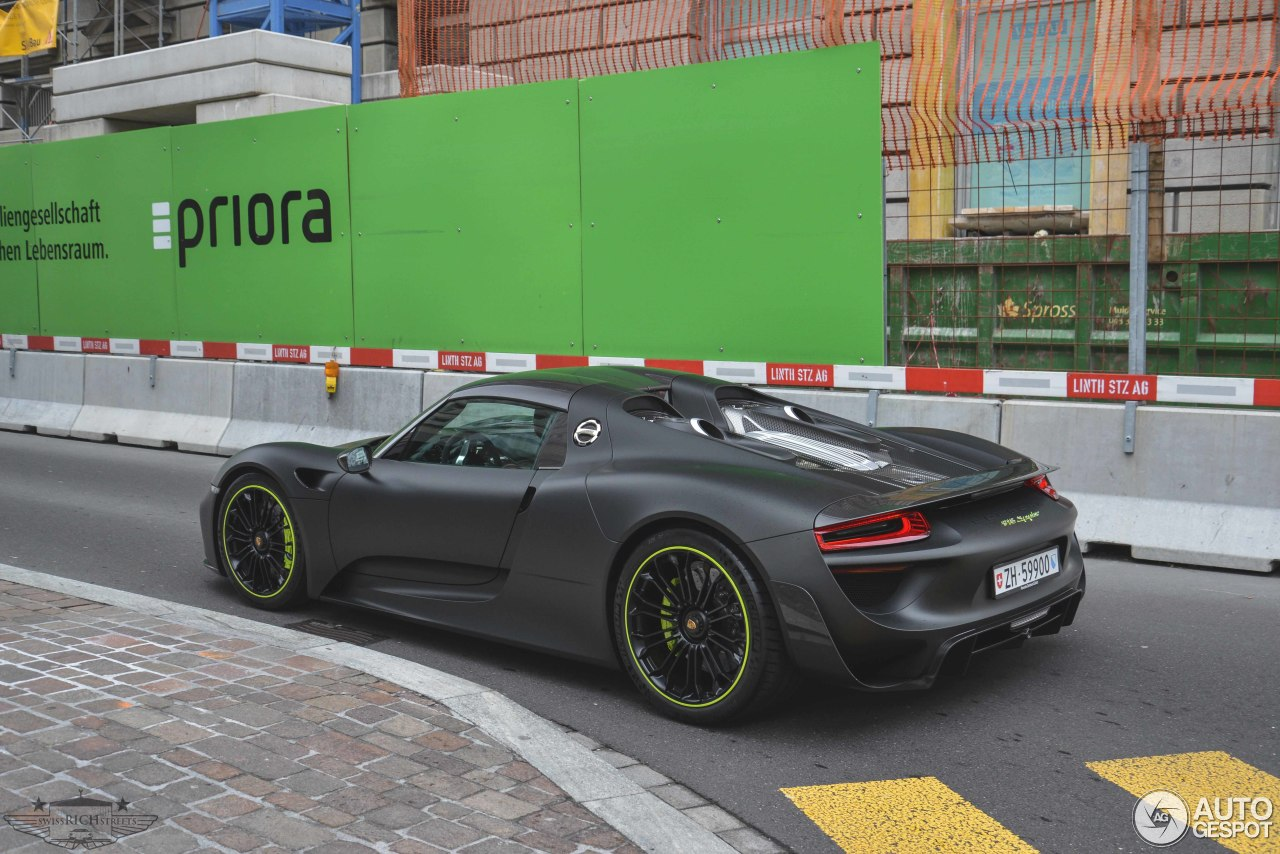 porsche 918 spyder weissach package 21 march 2015 autogespot. Black Bedroom Furniture Sets. Home Design Ideas