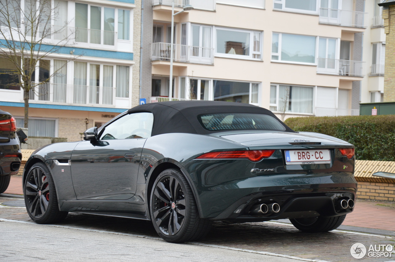jaguar f type r convertible 22 mars 2015 autogespot. Black Bedroom Furniture Sets. Home Design Ideas
