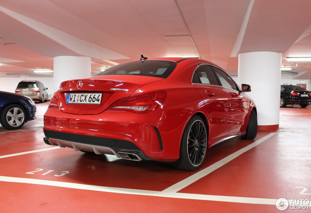 Mercedes benz cla 45 amg c117 23 march 2015 autogespot for Red mercedes benz cla