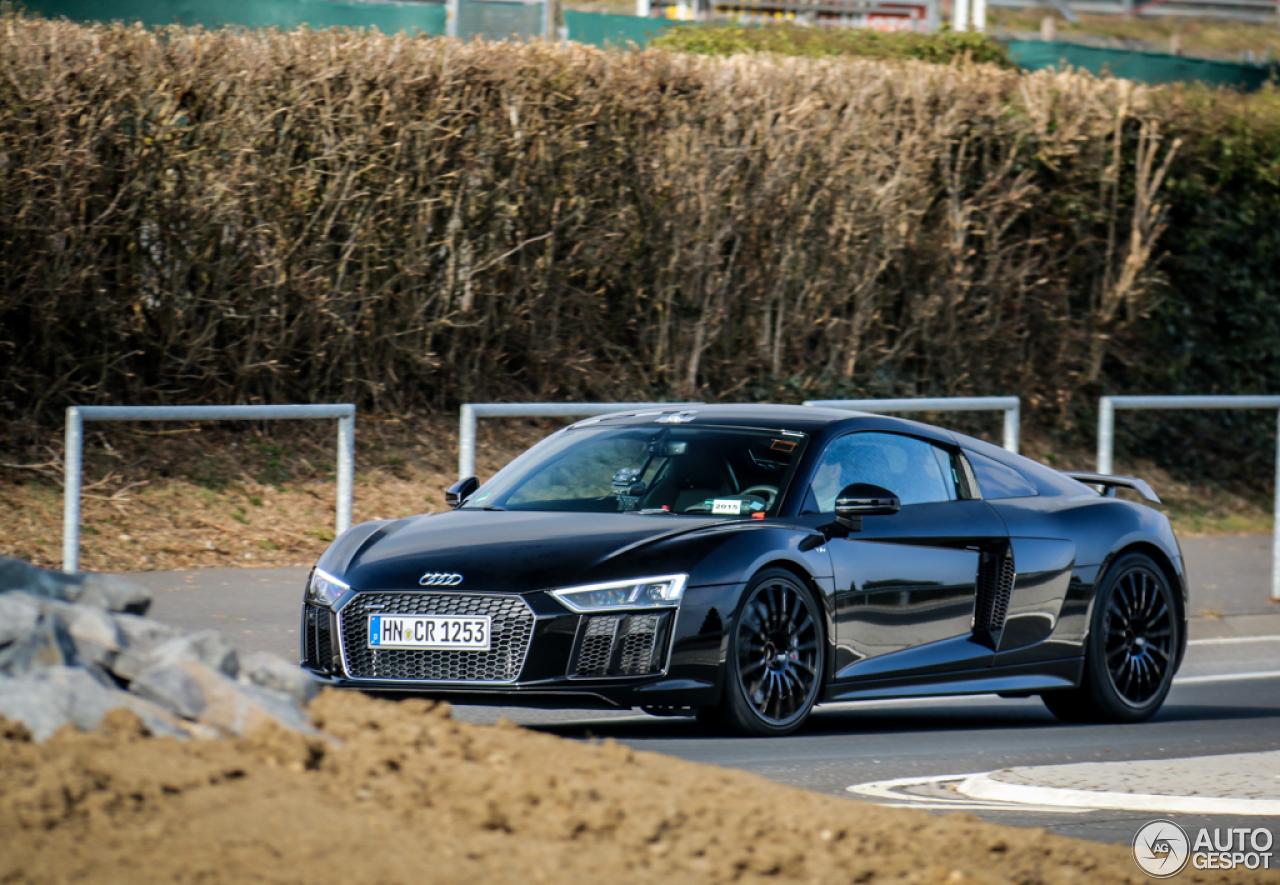 Audi r8 v10 plus 2017 matte black