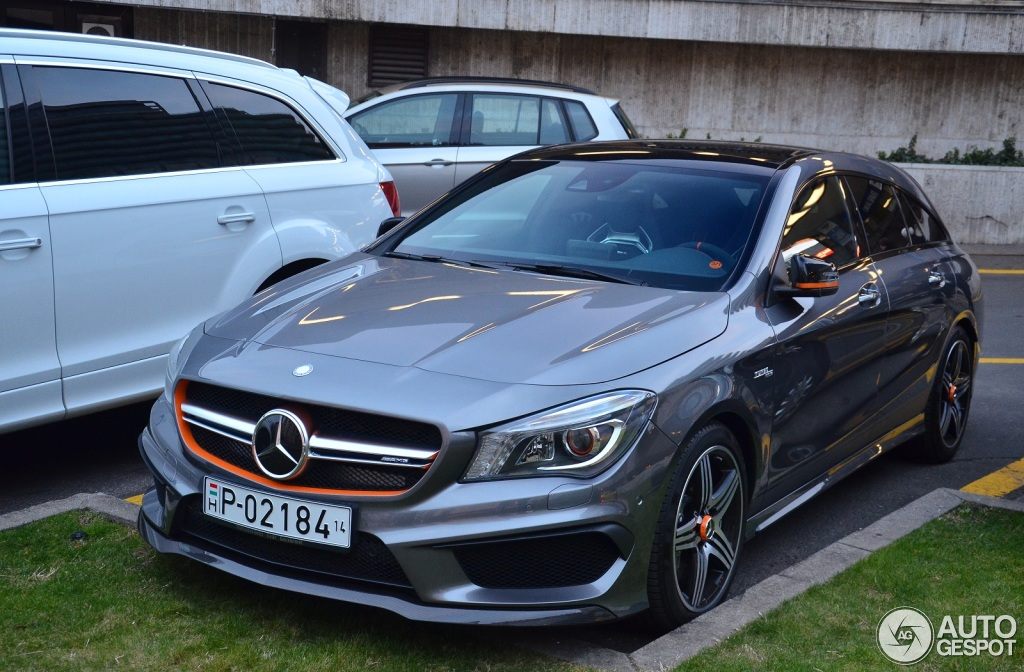 mercedes benz cla 45 amg shooting brake orangeart edition 28 maart. Cars Review. Best American Auto & Cars Review