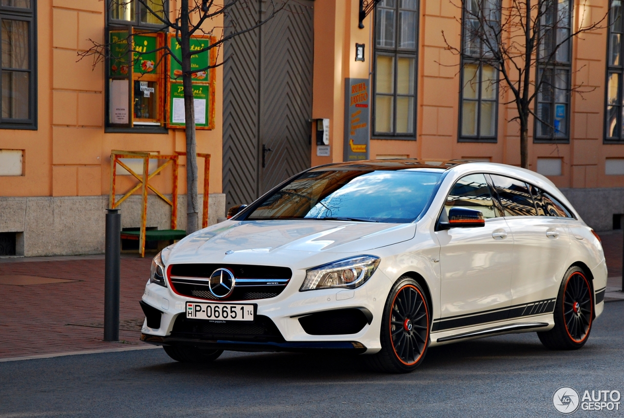 mercedes benz cla 45 amg shooting brake orangeart edition 8 april 2015 autogespot. Black Bedroom Furniture Sets. Home Design Ideas