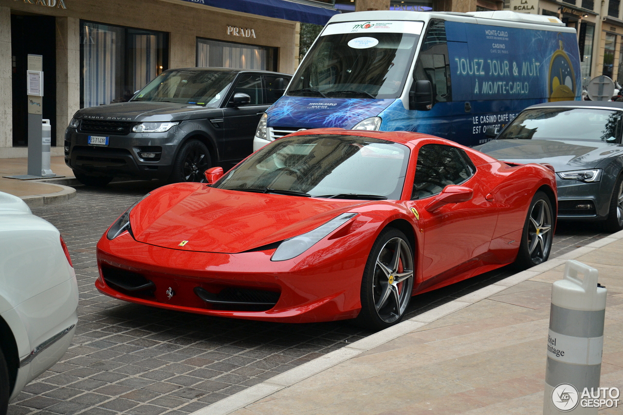 ferrari 458 spider 20 april 2015 autogespot. Black Bedroom Furniture Sets. Home Design Ideas