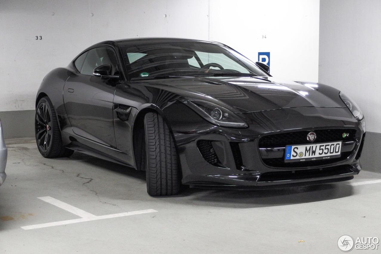 jaguar f type r coupe black - photo #5