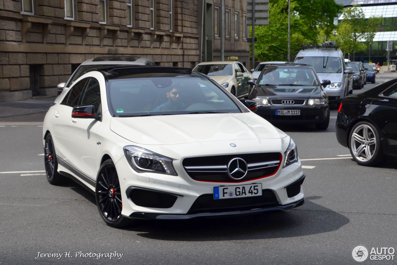 mercedes benz cla 45 amg edition 1 c117 6 mai 2015 autogespot. Black Bedroom Furniture Sets. Home Design Ideas