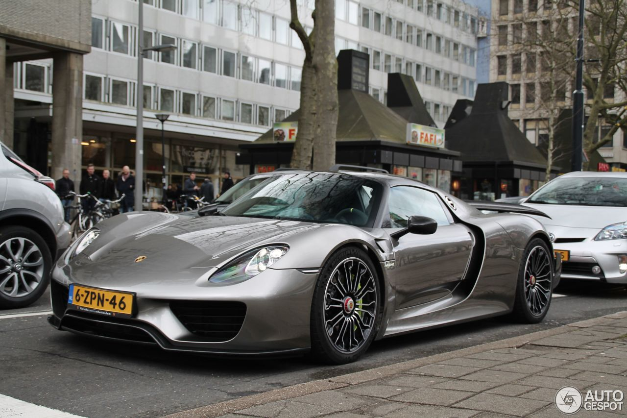 porsche 918 spyder weissach package 6 may 2015 autogespot. Black Bedroom Furniture Sets. Home Design Ideas