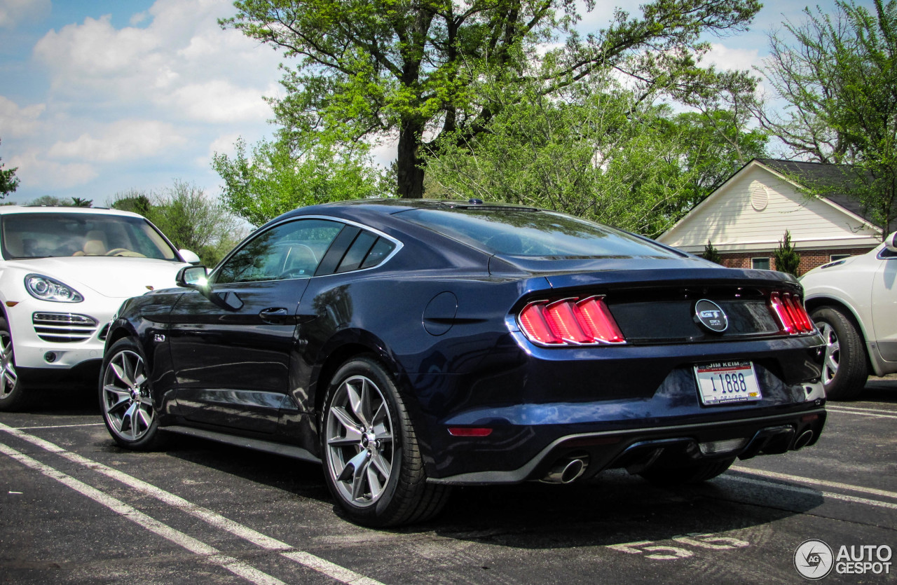 ford mustang gt 50th anniversary edition 11 may 2015 autogespot. Black Bedroom Furniture Sets. Home Design Ideas