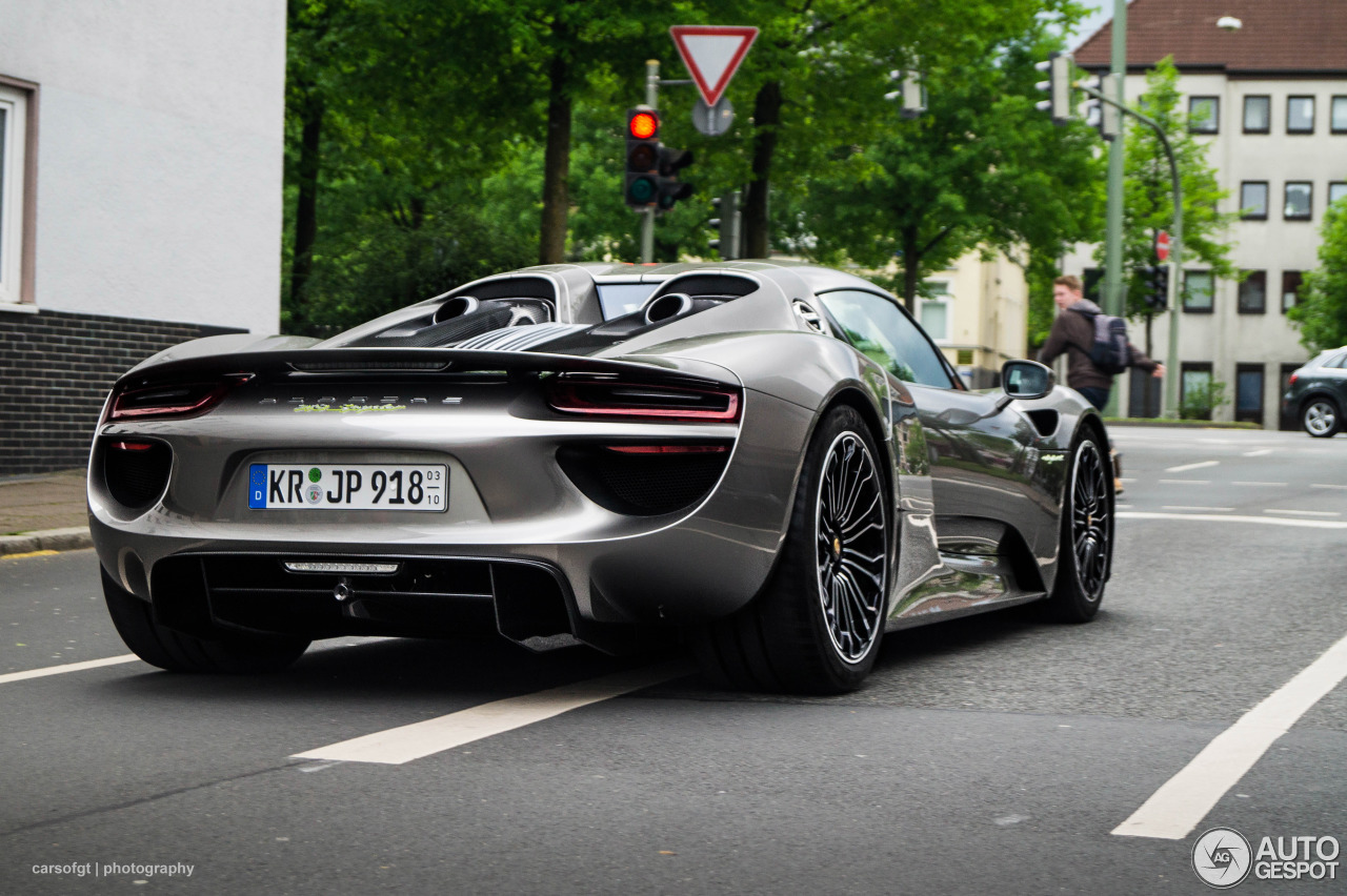 porsche 918 spyder 12 mai 2015 autogespot. Black Bedroom Furniture Sets. Home Design Ideas