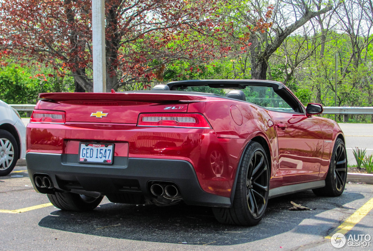Chevrolet Camaro Zl1 Convertible 2014 13 May 2015