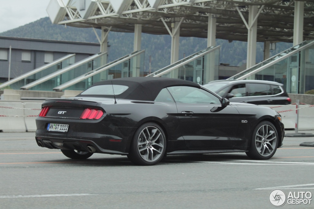 ford mustang gt 50th anniversary convertible - 25 may 2015 - autogespot