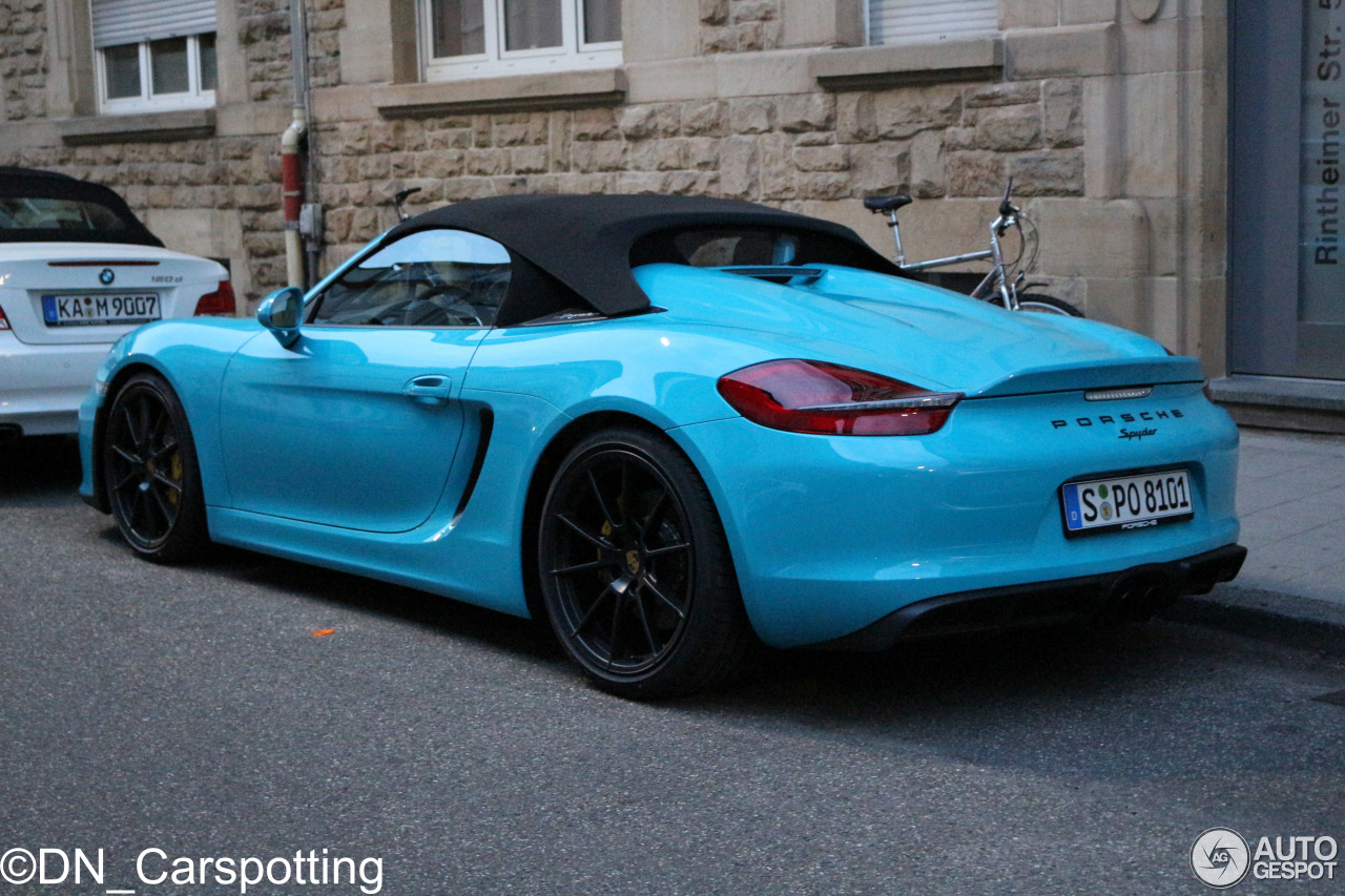porsche 981 boxster spyder 29 may 2015 autogespot. Black Bedroom Furniture Sets. Home Design Ideas