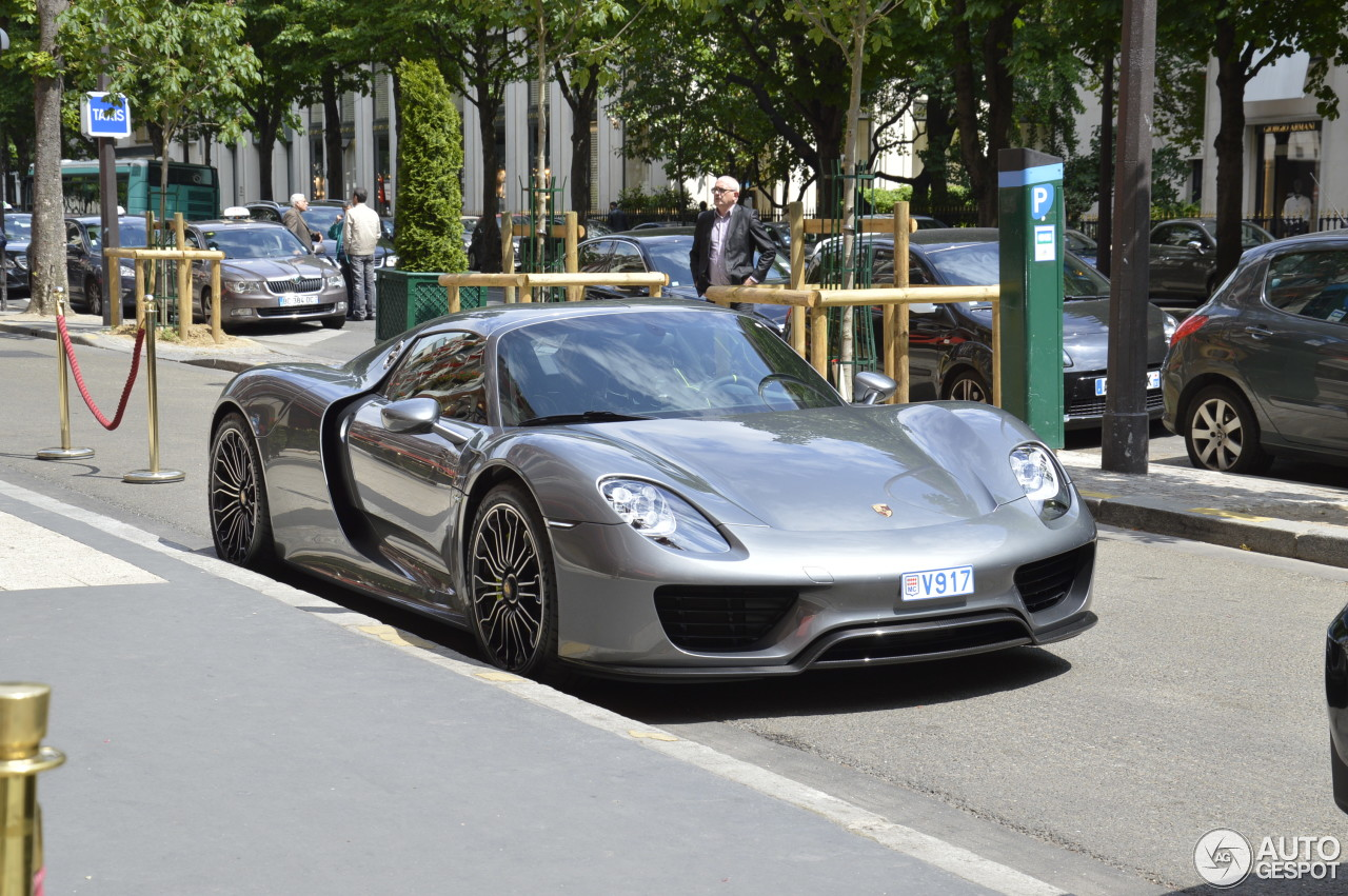 porsche 918 spyder 7 june 2015 autogespot. Black Bedroom Furniture Sets. Home Design Ideas
