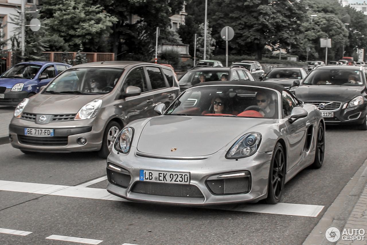 1 i porsche 981 boxster spyder 1 - 2015 Porsche Boxster Silver