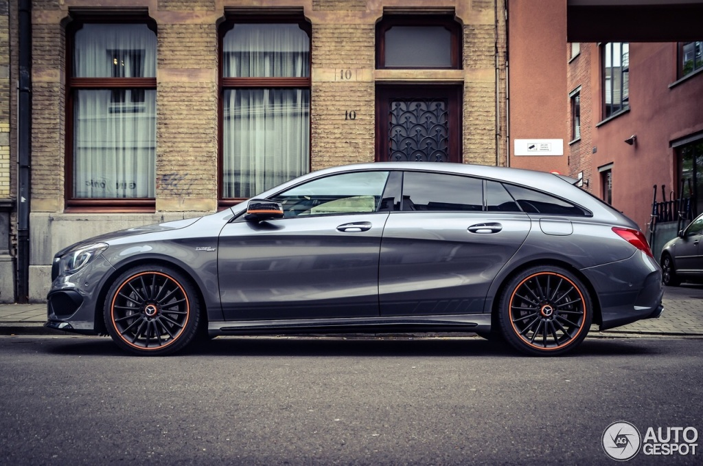Mercedes Benz Cla 45 Amg Shooting Brake Orangeart Edition