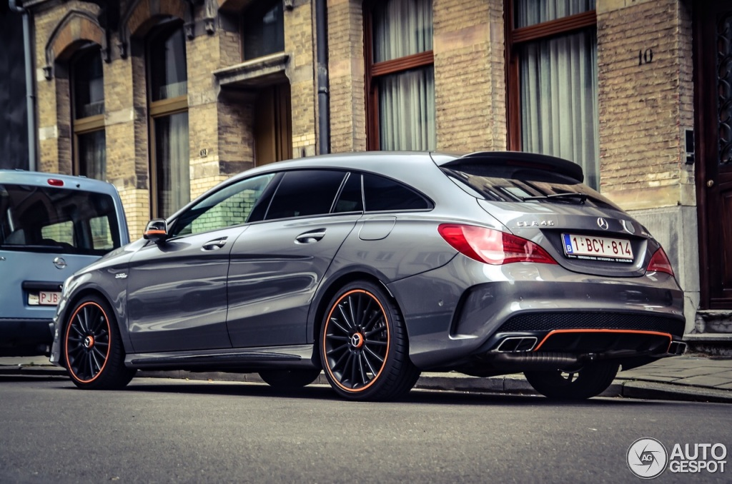 mercedes benz cla 45 amg shooting brake orangeart edition 23 june 2015 autogespot. Black Bedroom Furniture Sets. Home Design Ideas