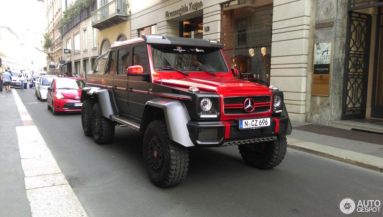 Mercedes benz g 63 amg 6x6 27 june 2015 autogespot for Mercedes benz g 63 amg 6x6