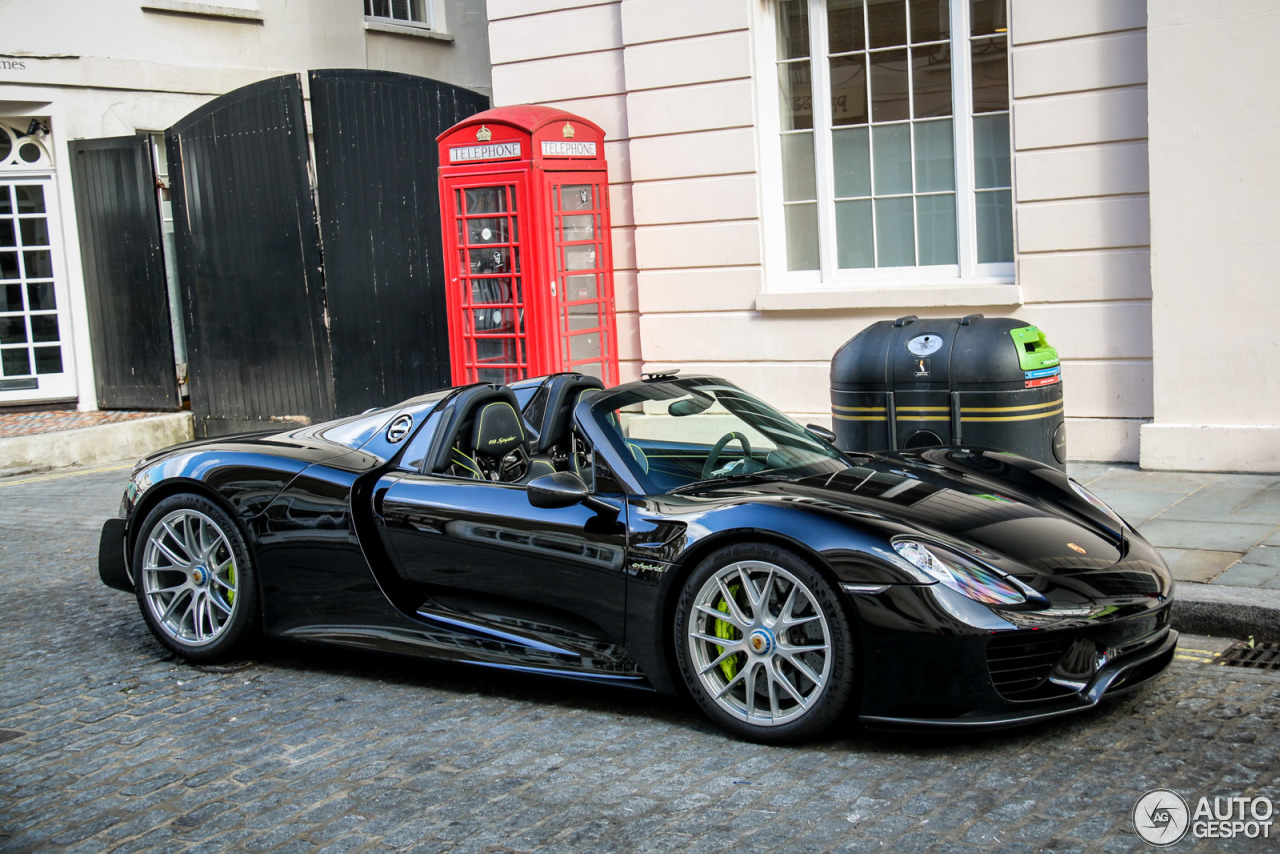 porsche 918 spyder weissach package 27 juni 2015 autogespot. Black Bedroom Furniture Sets. Home Design Ideas