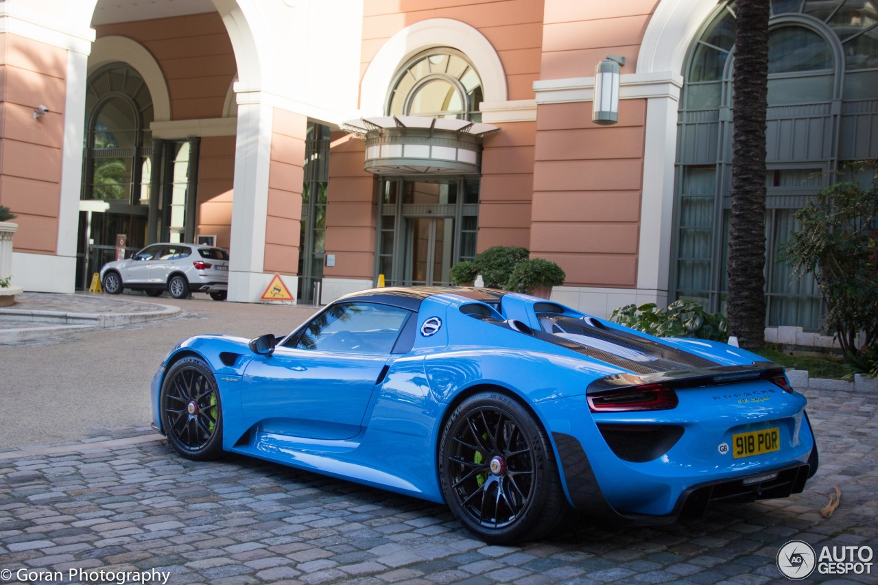 porsche 918 spyder weissach package 7 july 2015 autogespot. Black Bedroom Furniture Sets. Home Design Ideas