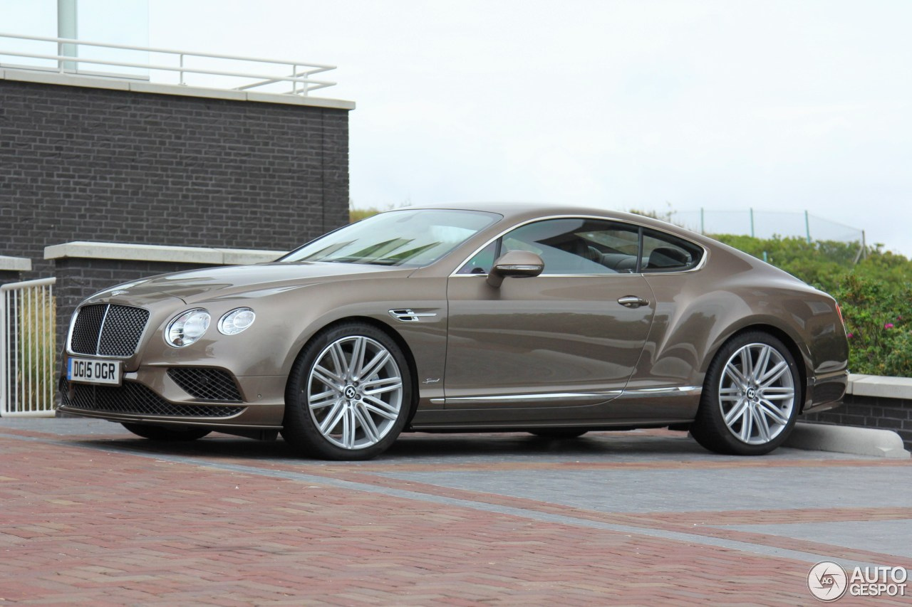 bentley continental gt speed 2016 16 july 2015 autogespot. Cars Review. Best American Auto & Cars Review