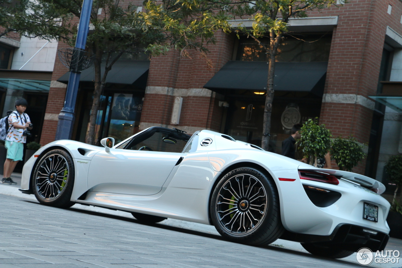 porsche 918 spyder 25 july 2015 autogespot. Black Bedroom Furniture Sets. Home Design Ideas