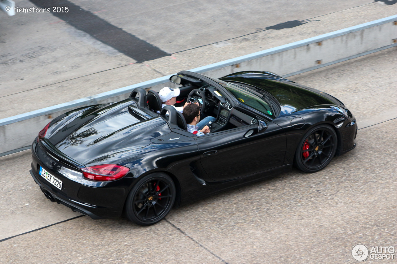 porsche 981 boxster spyder 30 july 2015 autogespot. Black Bedroom Furniture Sets. Home Design Ideas