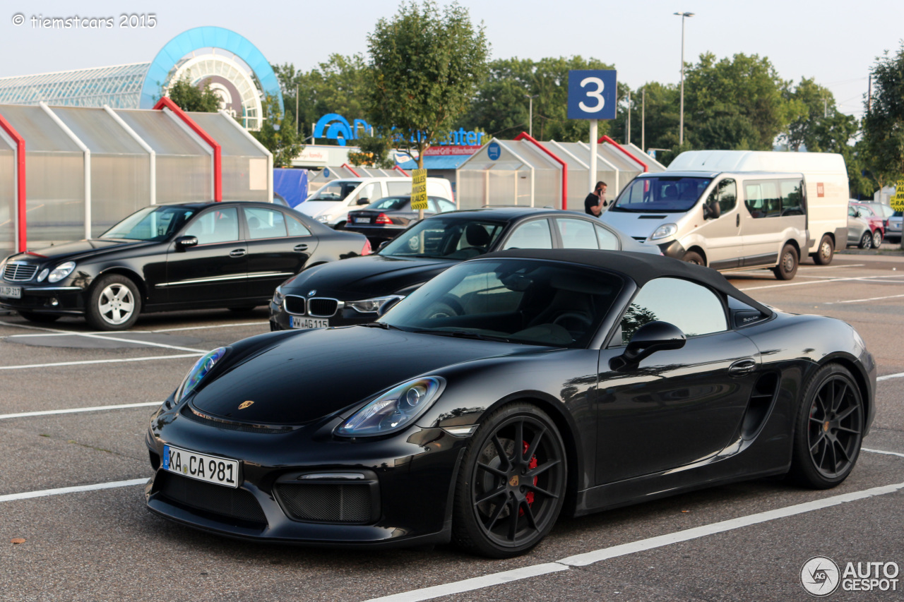 porsche 981 boxster spyder 11 august 2015 autogespot. Black Bedroom Furniture Sets. Home Design Ideas