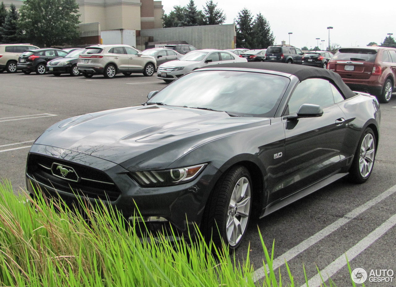 ford mustang gt 50th anniversary convertible 14 august 2015 autogespot. Black Bedroom Furniture Sets. Home Design Ideas