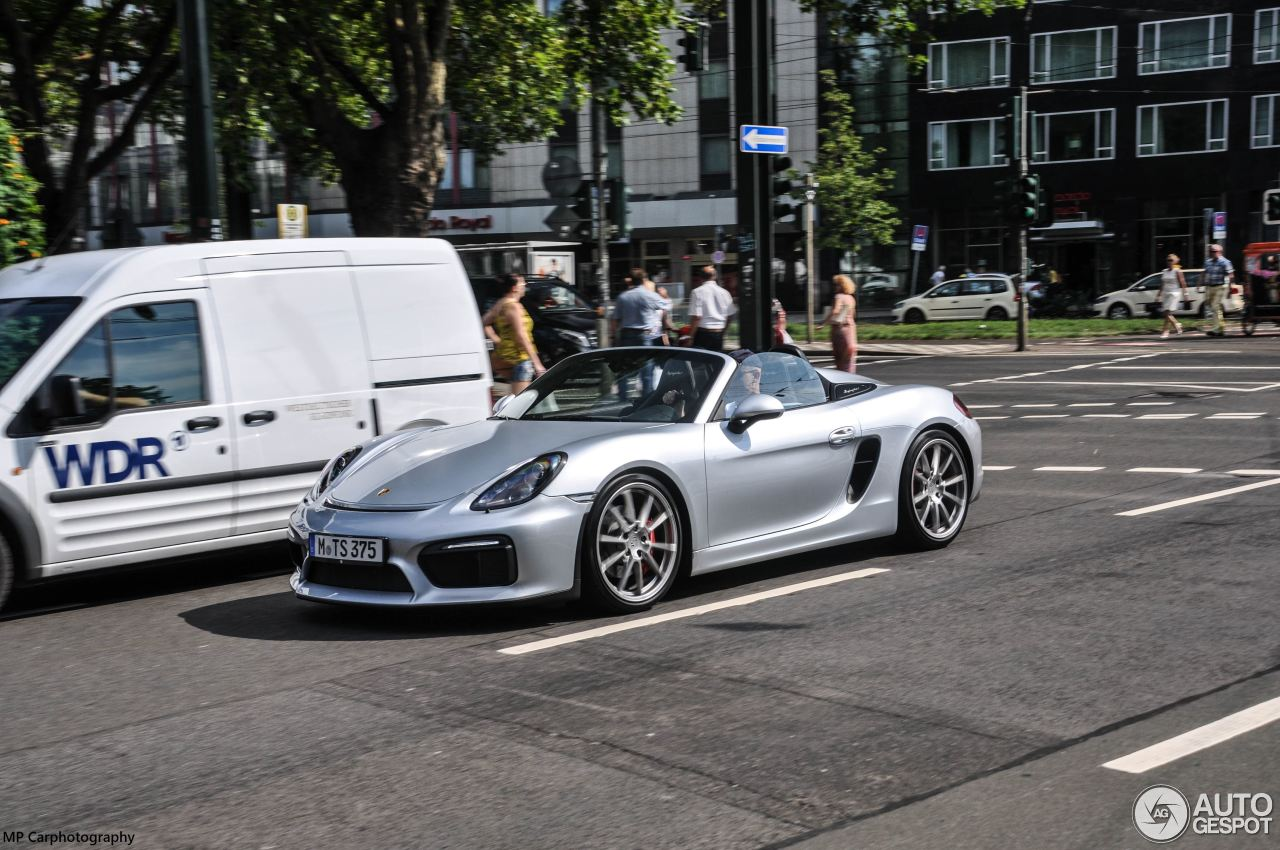 porsche 981 boxster spyder 27 august 2015 autogespot. Black Bedroom Furniture Sets. Home Design Ideas
