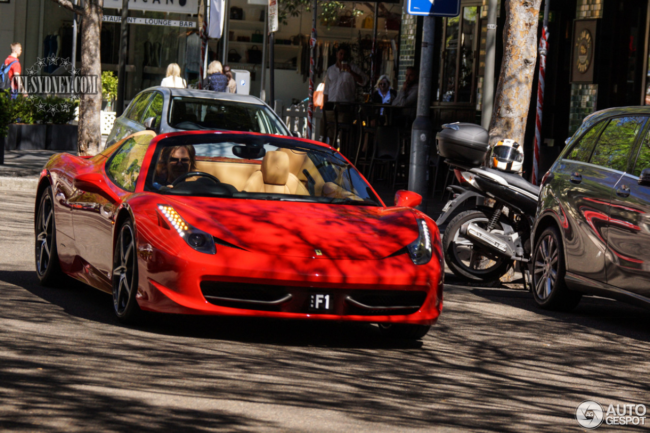 ferrari 458 spider 2 september 2015 autogespot. Black Bedroom Furniture Sets. Home Design Ideas