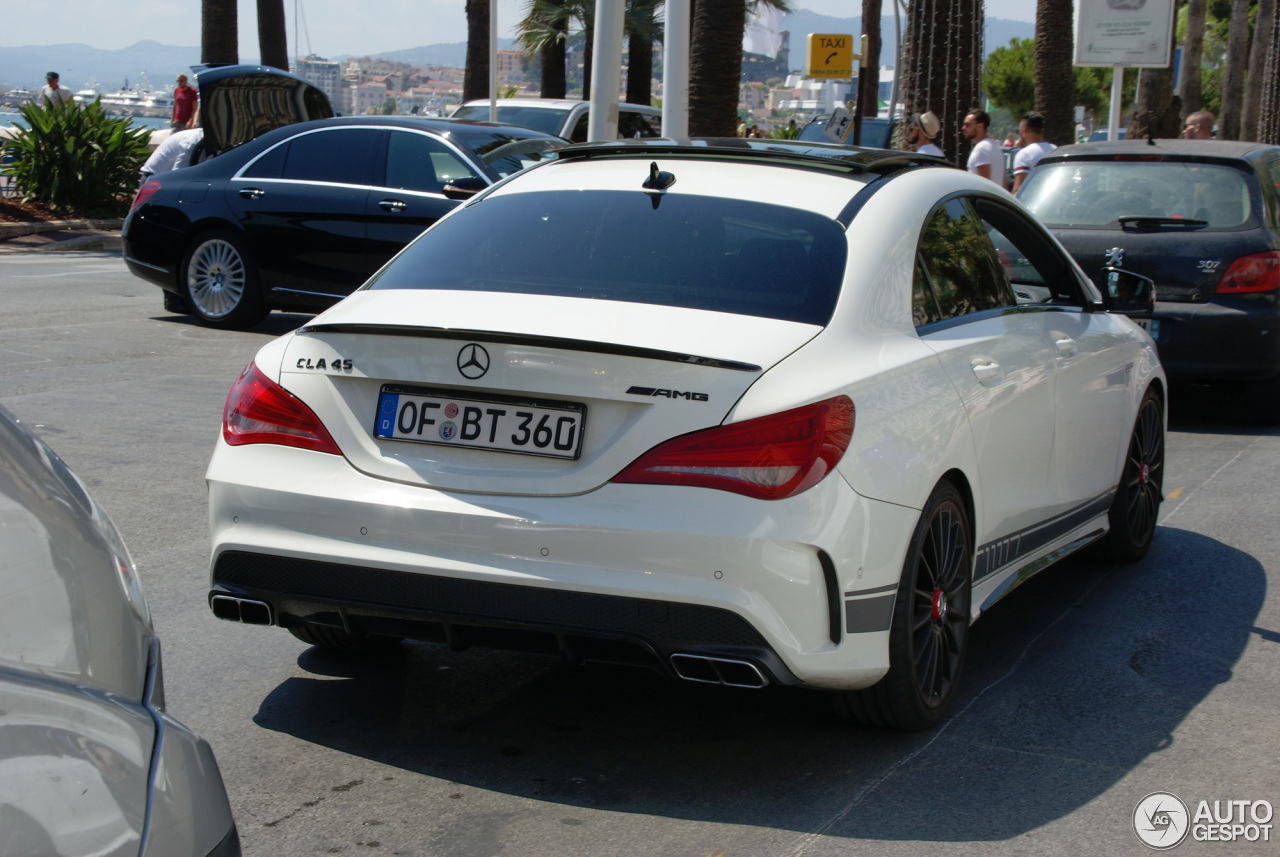 mercedes benz cla 45 amg edition 1 c117 16 septembre 2015 autogespot. Black Bedroom Furniture Sets. Home Design Ideas