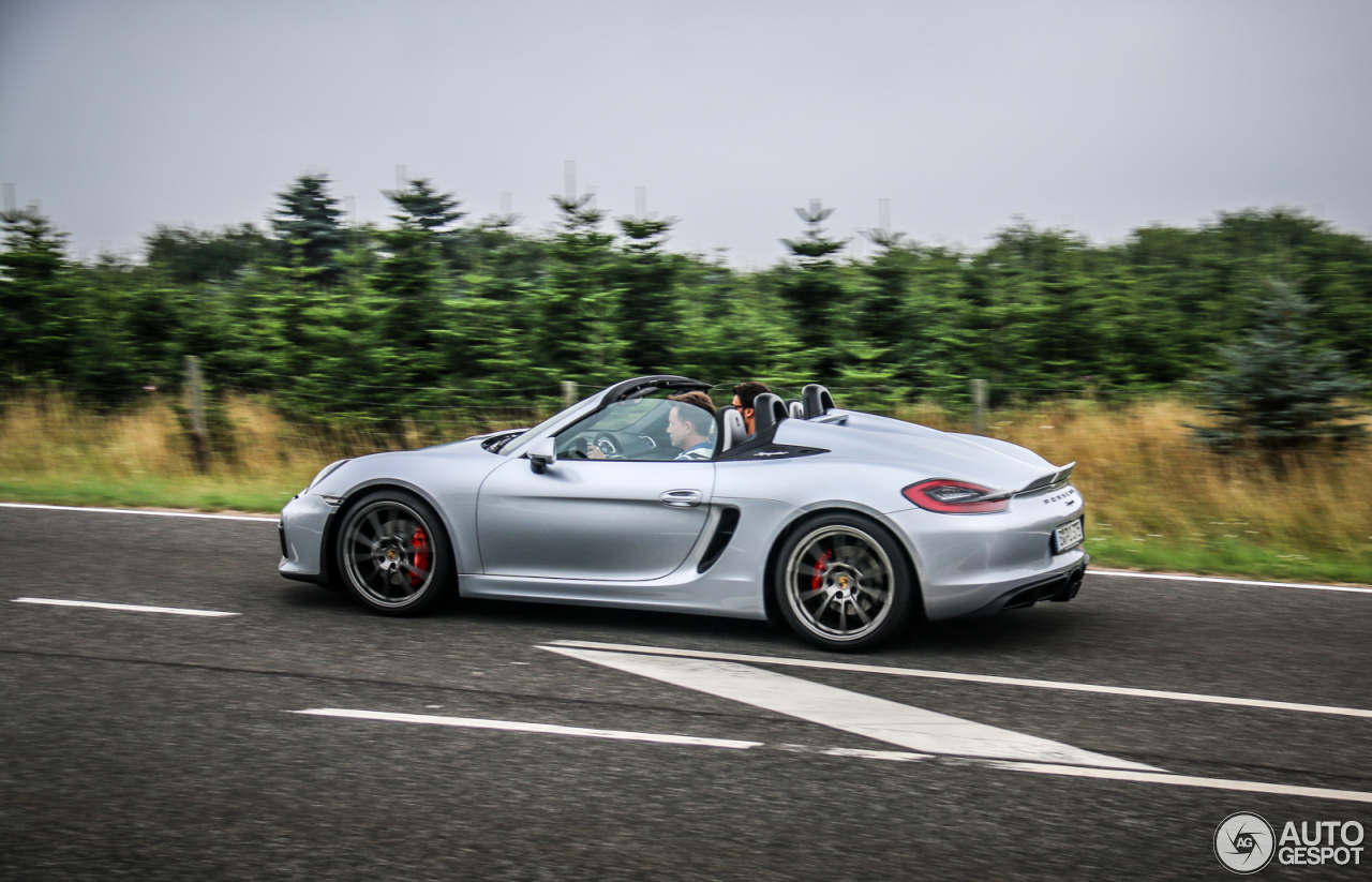 porsche 981 boxster spyder 29 september 2015 autogespot. Black Bedroom Furniture Sets. Home Design Ideas
