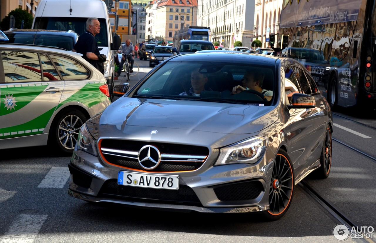 Mercedes benz cla 45 amg shooting brake orangeart edition for Mercedes benz orange