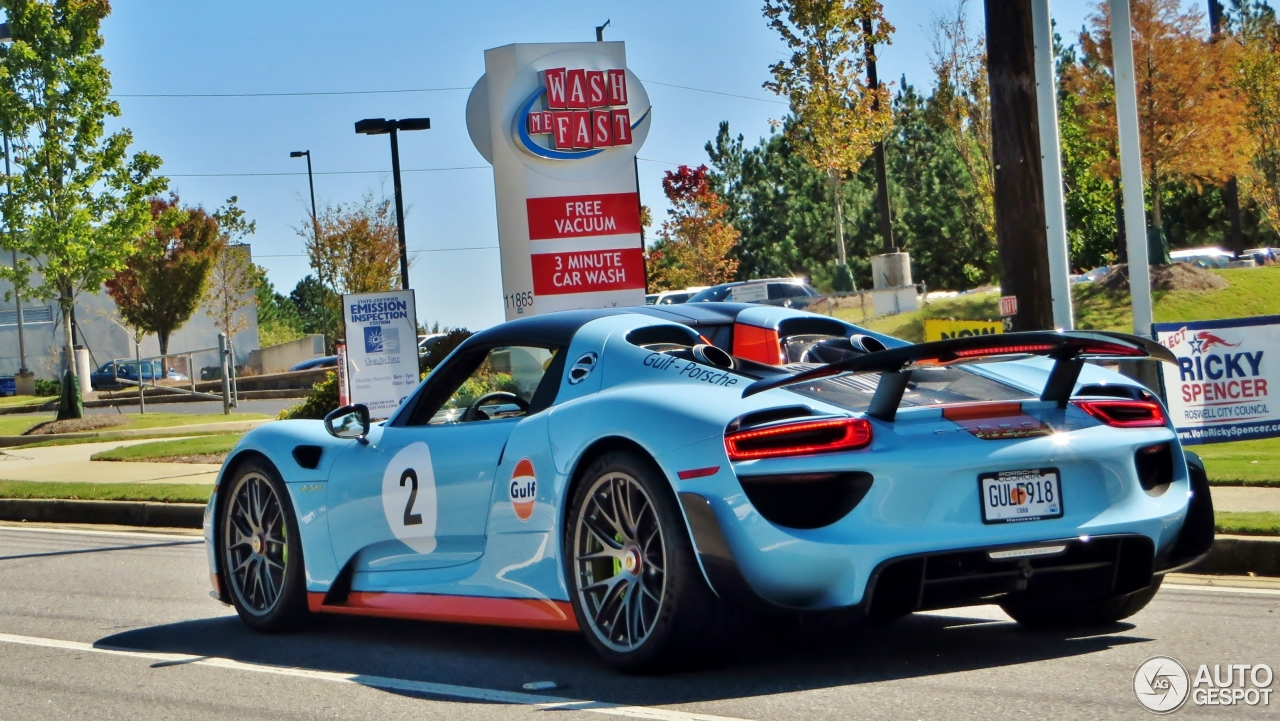 porsche 918 spyder weissach package 27 october 2015 autogespot. Black Bedroom Furniture Sets. Home Design Ideas