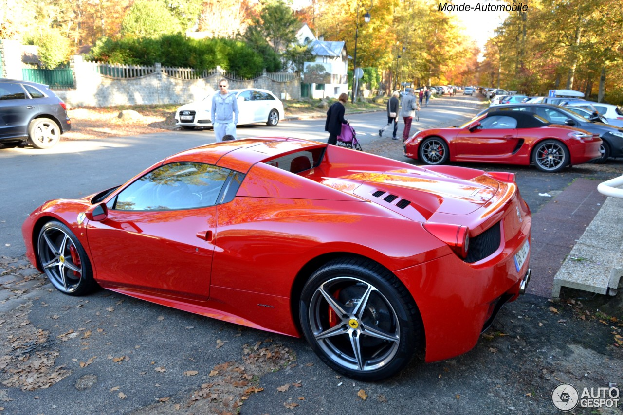 ferrari 458 spider 1 novembre 2015 autogespot. Black Bedroom Furniture Sets. Home Design Ideas