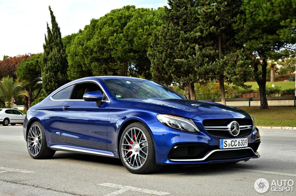 Mercedes Coup Ef Bf Bd C Klasse Blau