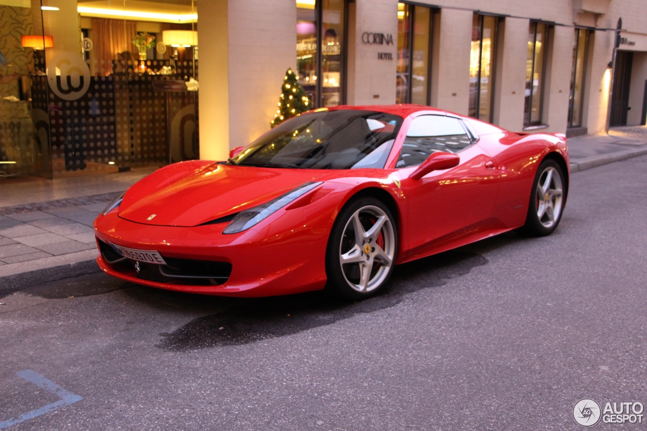 ferrari 458 spider 5 december 2015 autogespot. Black Bedroom Furniture Sets. Home Design Ideas