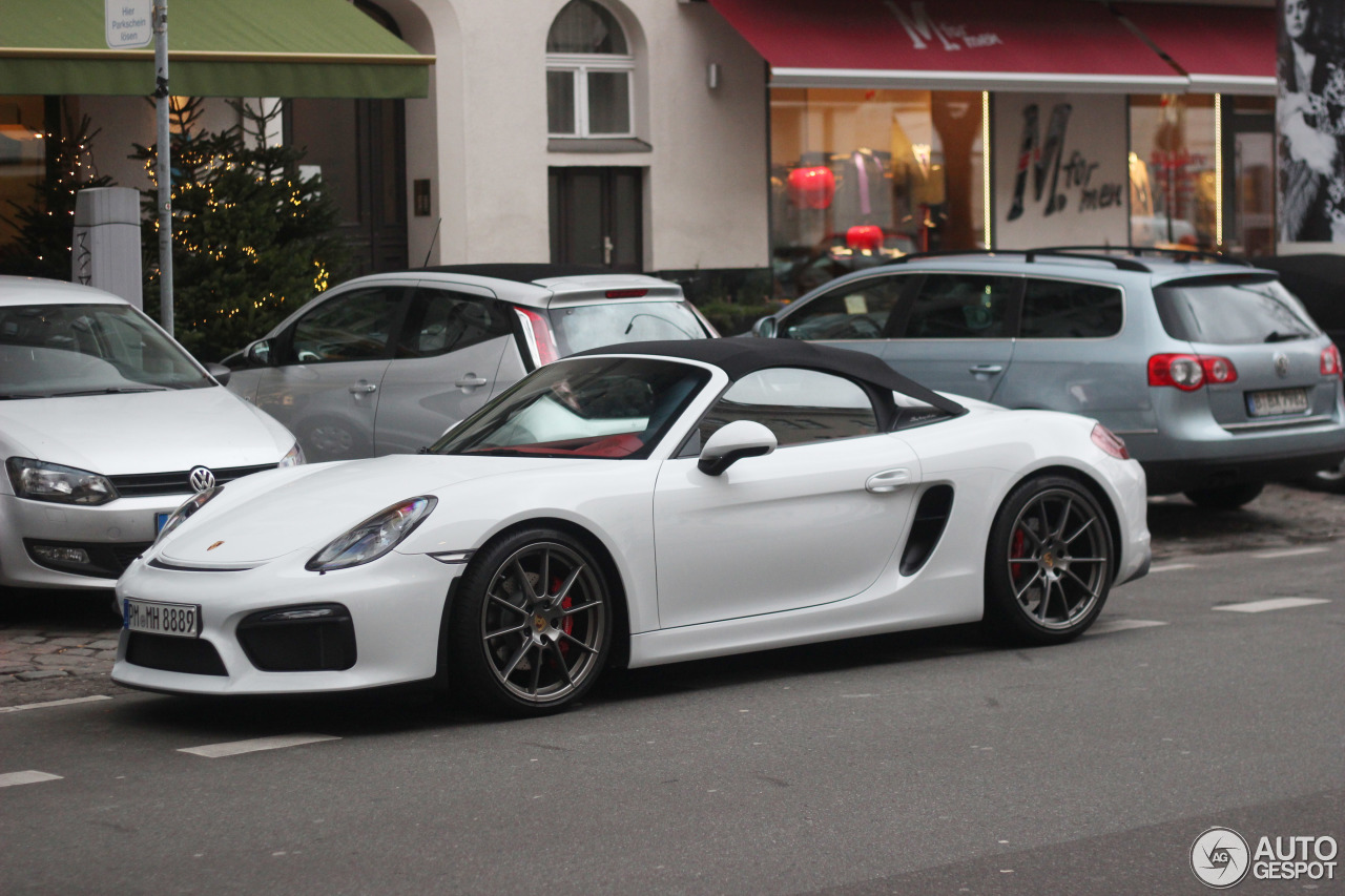 porsche 981 boxster spyder 12 december 2015 autogespot. Black Bedroom Furniture Sets. Home Design Ideas