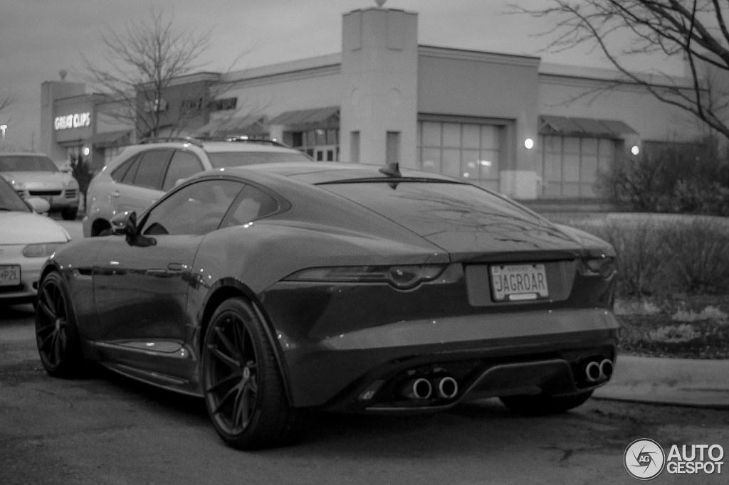 jaguar f type r coupe black - photo #19
