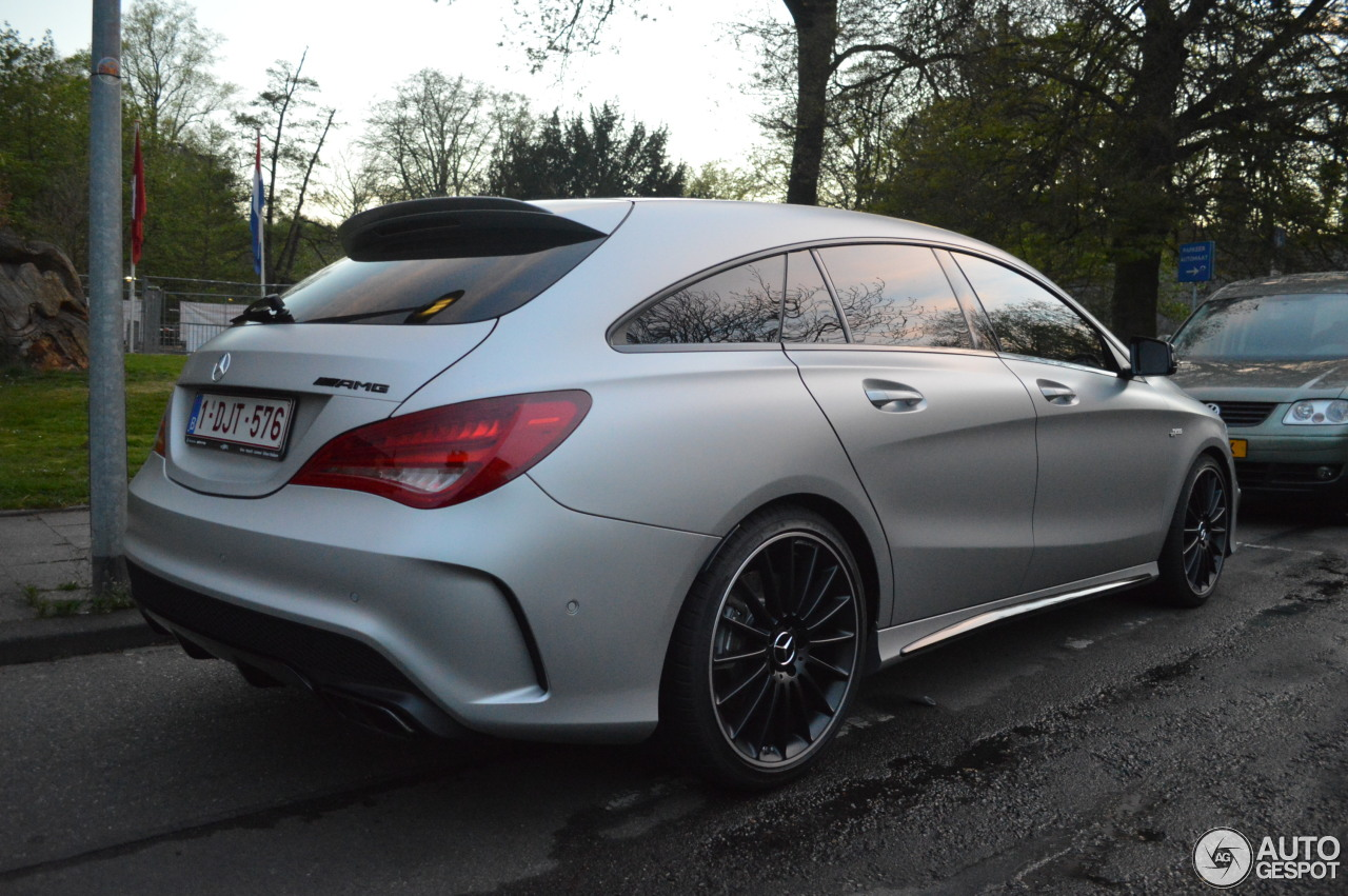 mercedes benz cla 45 amg shooting brake 25 avril 2015 autogespot. Black Bedroom Furniture Sets. Home Design Ideas