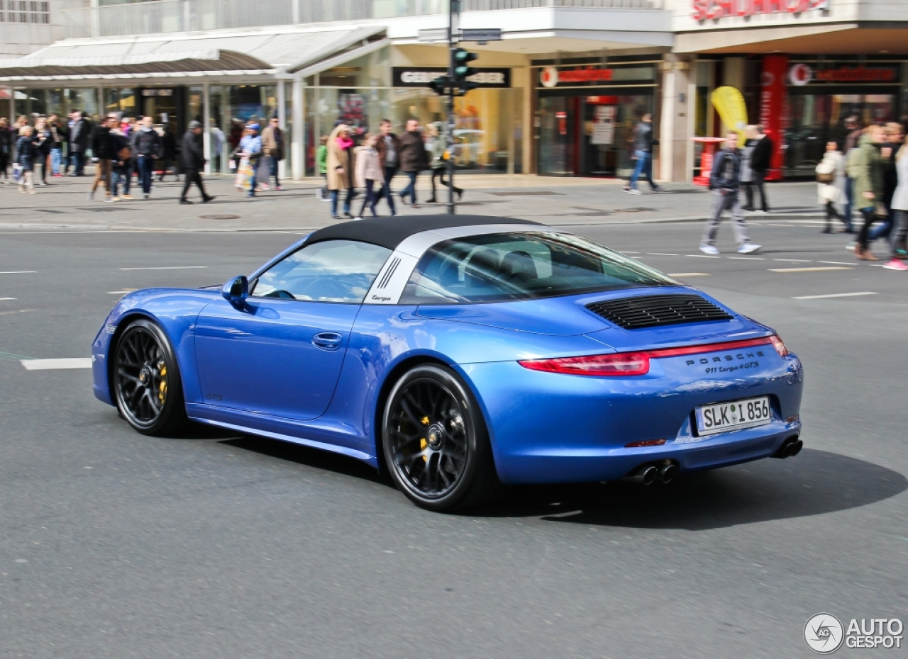 porsche 991 targa 4 gts 27 avril 2015 autogespot. Black Bedroom Furniture Sets. Home Design Ideas